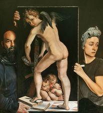 Amor, Ölmalerei, Mazzola, Mythologie