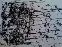 Curd stimmeder, Tusche, Zeichnungen, Abstrakt