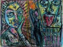 Pastellmalerei, Curd stimmeder, Zeichnungen, Surreal