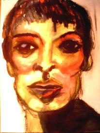 Portrait, Kreide, Farben, Pastellmalerei