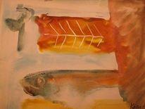 Teller, Fische, Malerei