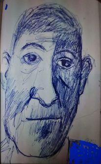 Oskar kokoschka, Kuli, Portrait, Zeichnungen