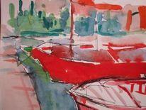 Hafen, Schiff, Malerei