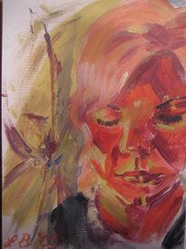 Gesicht, Acrylmalerei, Kopf, Gedanken