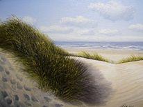 Ölmalerei, Nordsee, Wangerooge, Wasser