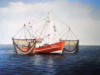 Wasser, Wangerooge, Ölmalerei, Nordsee