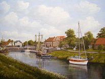 Friesland, Hafen, Weite, Nordsee