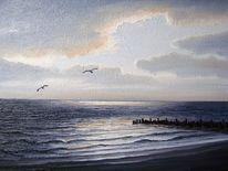 Nordsee, Ölmalerei, Wasser, Malerei