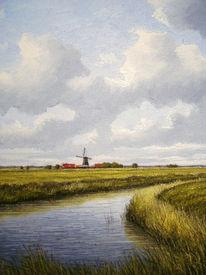 Friesland, Ostfriesland, Weite, Zeichnungen
