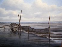 Landschaft, Ölmalerei, Ostfriesland, Watt