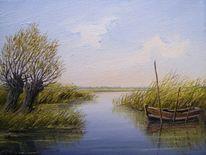 Ölmalerei, Ostfriesland, Weite, Landschaft