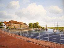 Nordsee, Ostfriesland, Hafen, Watt