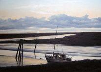 Ostfriesland, Weite, Landschaft, Ölmalerei