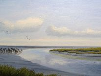Friesland, Ostfriesland, Watt, Weite