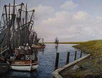 Kutter, Ostfriesland, Wasser, Hafen