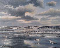 See, Wolken, Nordsee, Meer