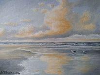 Meer, Möwe, Malerei, Nordsee