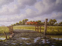 Hof, Ostfriesland, Norden, Malerei