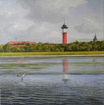 Wasser, Turm, Möwe, Leuchtturm