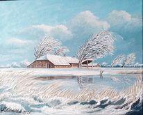 Winter, Schnee, Malerei,