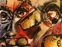 Augen, Gesicht, Abstrakt, Malerei