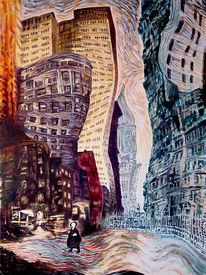 Menschen, Stadt, Melancholie, Einsamkeit