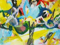 Malerei, Pflanzen, Baum