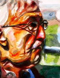 Ausdruck, Gesicht, Malerei, Farben