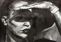 Licht, Aquarellmalerei, Schatten, Monochrom