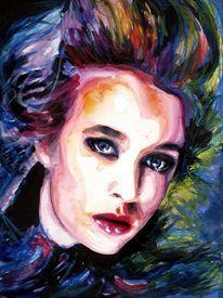 Ausdruck, Augen, Farben, Portrait