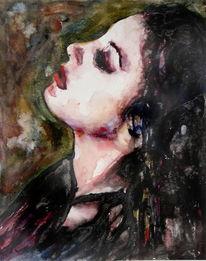 Portrait, Frau, Gesicht, Menschen