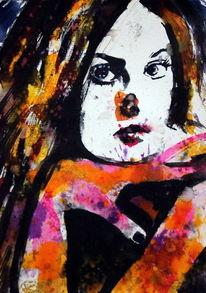 Frau, Gesicht, Farben, Menschen