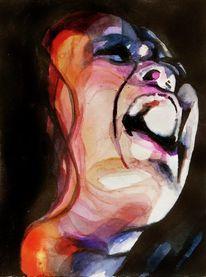 Emotion, Frau, Schrei, Portrait