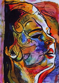 Portrait, Menschen, Ausdruck, Frau