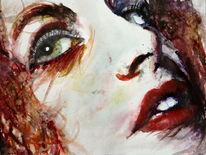Augen, Aquarellmalerei, Blick, Menschen