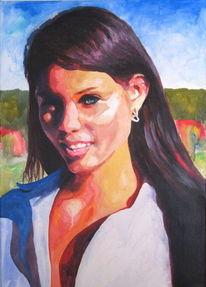 Haare, Frau, Schönheit, Acrylmalerei