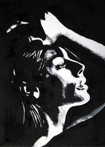 Gesicht, Schwarz, Portrait, Monochrom