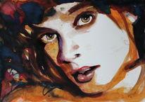 Portrait, Blick, Menschen, Figurativ