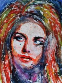 Farben, Menschen, Gesicht, Portrait