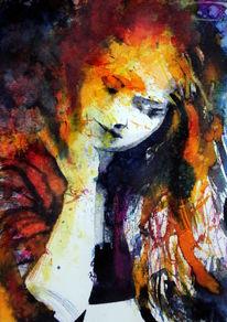 Frau, Ausdruck, Farben, Menschen
