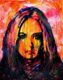 Ausdruck, Gesicht, Portrait, Farben