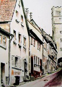 Zeichnung, Würzburg, Lage, Aub