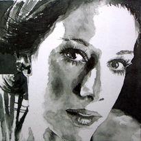 Scwarz, Portrait, Lage, Monochrom