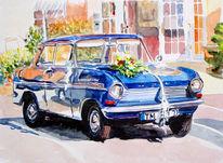 Opel, Aquarellmalerei, Malerei, Hochzeit