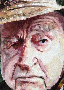 Portrait, Aquarellmalerei, Mann, Lage