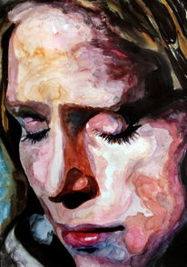 Frau, Portrait, Gesicht, Blick