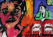 Expressionismus, Menschen, Farben, Surreal