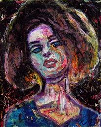 Expressionismus, Frau, Spontan, Gesicht