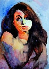 Portrait, Menschen, Blick, Frau