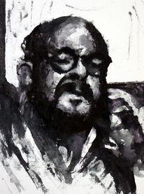 Menschen, Portrait, Monochrom, Mann